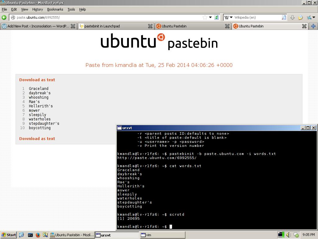 pastebin | Inconsolation
